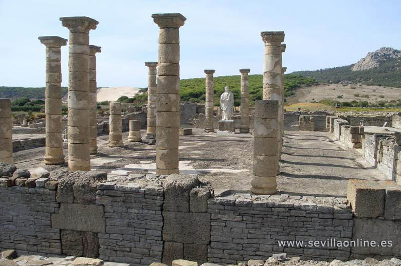 The roman ruins of Baelo Claudia at Bolonia some 17 Km northwest from Tarifa.