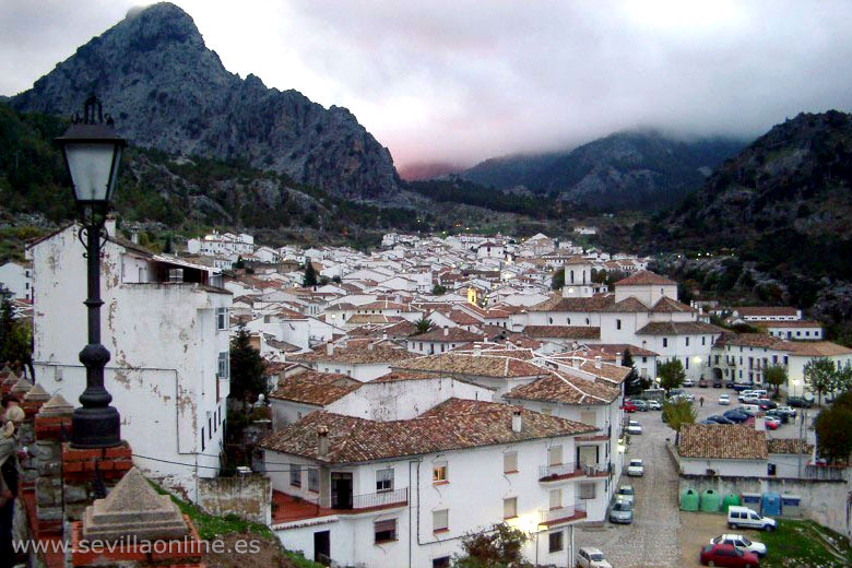 View over Grazalema town in Sierra de Grazalema natural park