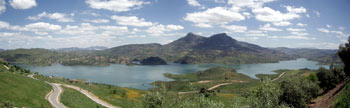The beautiful panorama from the town of Zahara de la Sierra