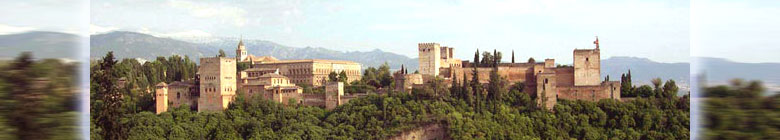 Panoramic view over the Alhambra palace - Granada, Andalusia