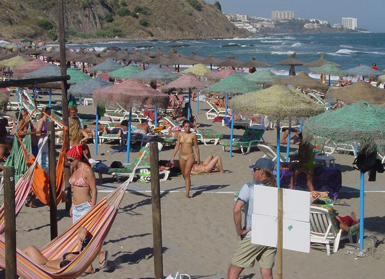 Beaches in the province of M�laga, Costa del SOL - Andalusia, Spain