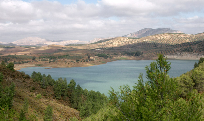 Reservoir of Guadalhorce near el Chorro, Malaga - Andalusia