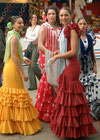 Flamenco dresses everywhere on the fair.