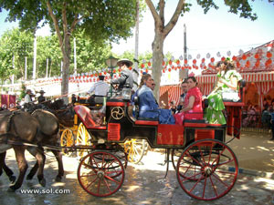 Horses parading on the Feria de Abril de Sevilla